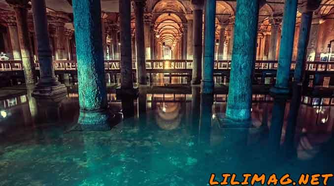 زیباترین دیدنی های استانبول، آب انبار باسیلیکا سیسترن (قصر غرق شده) (Basilica Cistern)