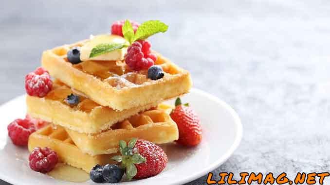 وافل؛ یک نان خوشمزه برای تجربه صبحانه لاکچری