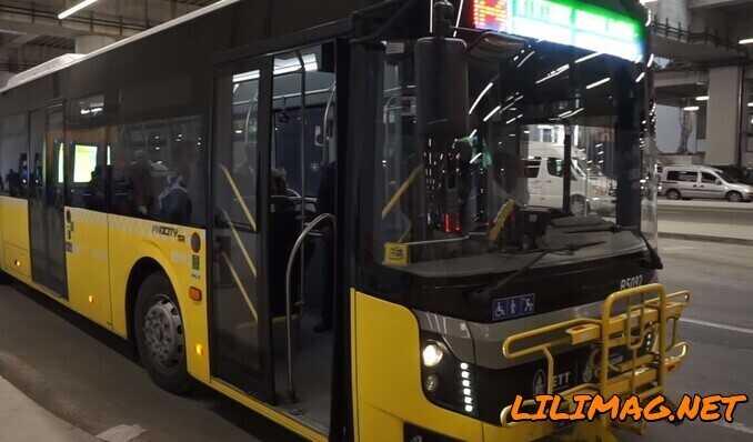 خطوط اتوبوس های IETTدر فرودگاه استانبول