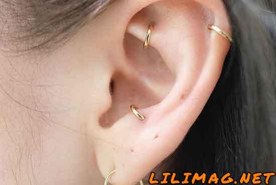 پیرسینگ آنتی تراگوس یا زبانه بزرگ گوش (Anti-tragus Piercing)