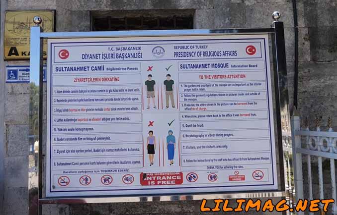 قوانین بازدید از مسجد سلطان احمد