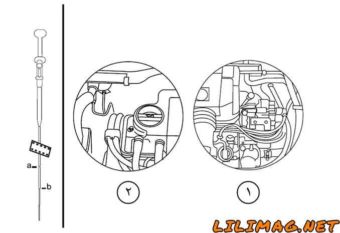 نحوه کنترل روغن موتور پژو 405 GLX و SLX