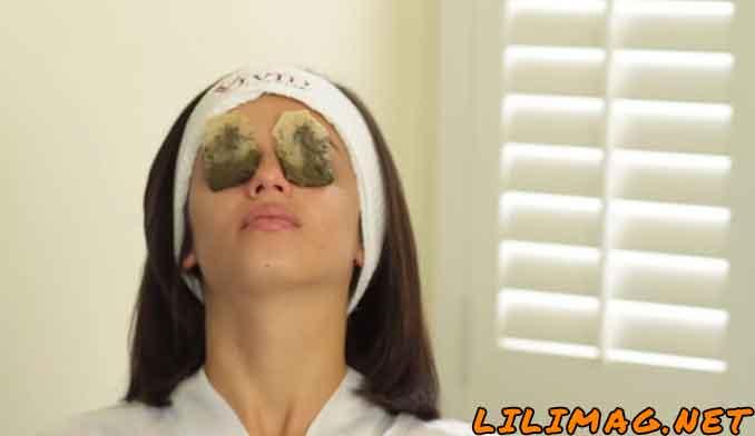 طرز استفاده از ماسک چای سبز برای زیر چشم