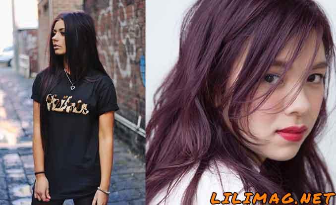 رنگ موی بنفش بادمجانی به چه پوستی میاد