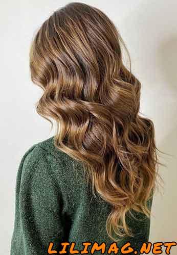 ترکیب رنگ مو فندقی روشن بدون دکلره
