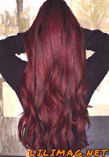 ترکیب رنگ موی عنابی و شرابی