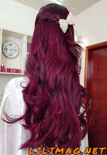 ترکیب رنگ مو عنابی با حنا