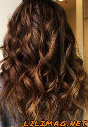 عکس رنگ موی کاراملی و شکلاتی
