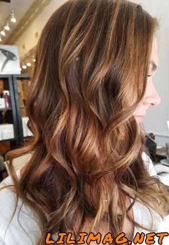 عکس رنگ موی کاراملی و عسلی