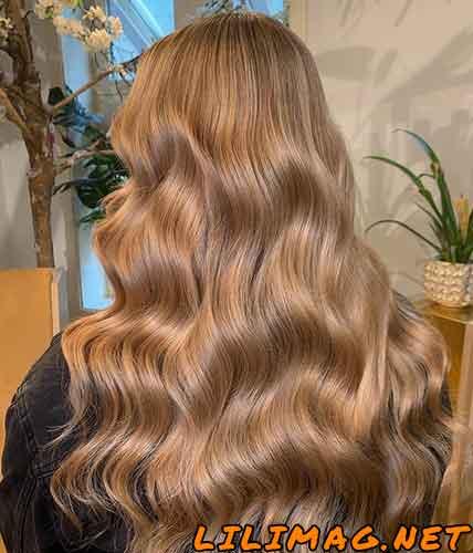 عکس رنگ مو کاراملی زیبا و جدید