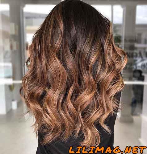 عکس رنگ موی کاراملی تیره و روشن