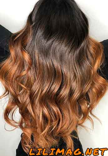عکس رنگ موی مسی بلوند