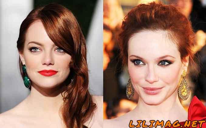 عکس آرایش با رنگ مسی برای پوست سفید