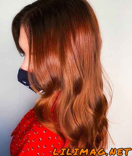 عکس رنگ مو مسی جدید و زیبا