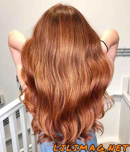 عکس جدیدترین رنگ موی مسی بلوطی