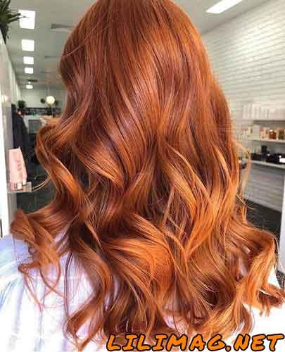 عکس رنگ موی مسی زیبا در فصل پاییز