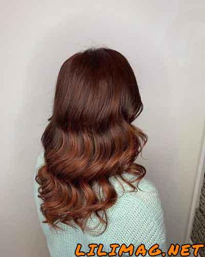 عکس رنگ موی مسی خوشگل ماهاگونی