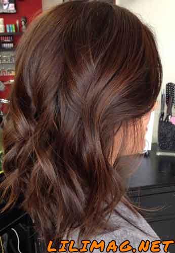 عکس رنگ مو شکلاتی بدون دکلره