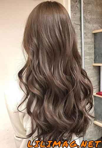 عکس رنگ موی شکلاتی نسکافه ای بدون دکلره