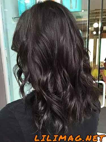 عکس رنگ موی شکلاتی خیلی تیره
