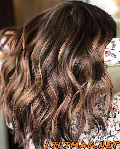 عکس رنگ موی شکلاتی لایت
