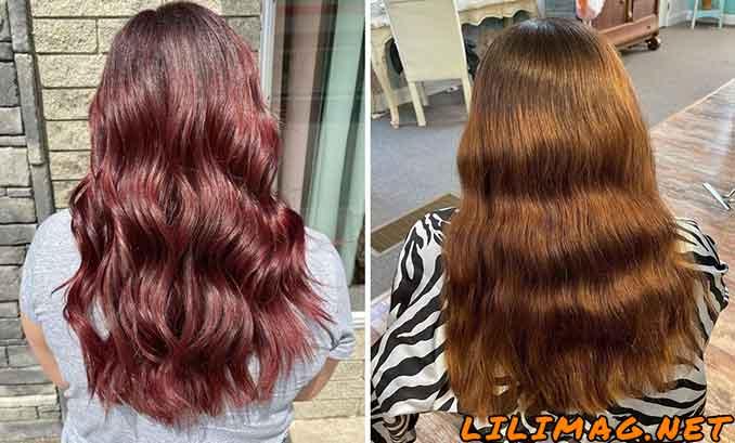 تغییر رنگ موی شرابی به قهوه ای