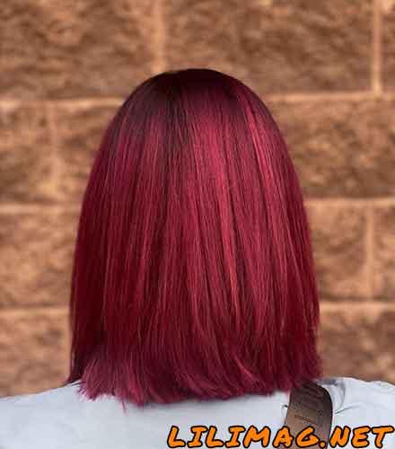 مدل رنگ مو شرابی جدید و جذاب