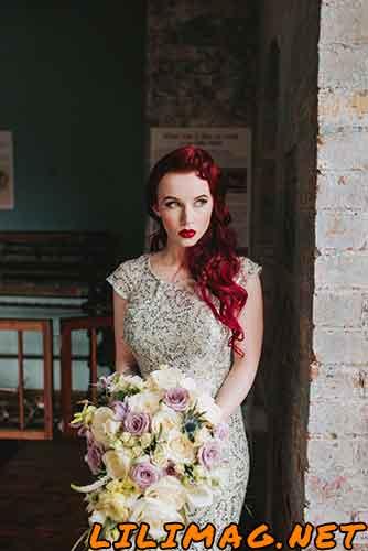 عکس رنگ موی شرابی عروس